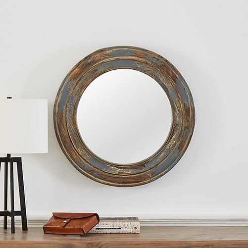 distressed rustic wall mirror (1)