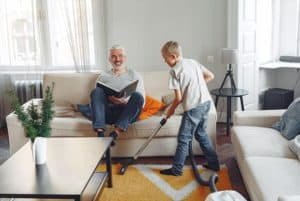 tips for cleaning the living room rug